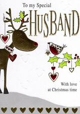 To My Special Husband Christmas Card Embossed & Foiled Xmas Greeting Cards