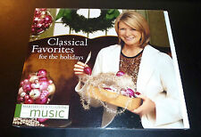 """Martha Stewart """"CLASSICAL FAVORITES FOR THE HOLIDAYS"""" Christmas CD *GREAT SHAPE*"""
