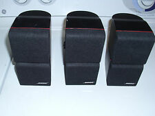 BOSE ACOUSTIMASS DOUBLE CUBE RED LINE SPEAKERS 3 DOUBLE SETS