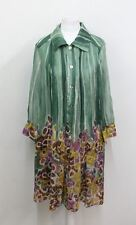 DIANE VON FURSTENBERG Ladies Green Printed 3/4 Sleeve Silk Shirt Dress UK10 US6