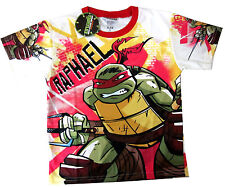 TEENAGE MUTANT NINJA TURTLES RAPHAEL Boys vibrant t-shirt Sz 8 Age 6-7y FreeShip