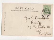 Miss G Brockhurst Redriff Sackville Road Hove Brighton 1905  824a