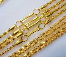 """LOT 50PCS Gold Plated Hollow Snake Chain Necklace finding With Clasp Long,20""""G"""