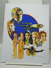 "FX Sci-Fi Con Art Print-Signed- Star Trek/Firefly/Buffy & More 17""x21"" (FF-323)"