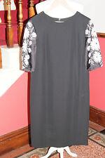 JAEGER Black Silk Crepe Tunic Dress Cocktail  Office BNWT UK 14 US 12 EU 42 £199