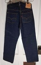 RARE Vintage 1950s 1954 LEVIS 501ZXX Big E Red Line Selvage Gripper Zipper 33x28