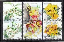 MALAYSIA 2016 SCENTED FLOWERS SERIES 2 COMP. SET OF 6 STAMPS IN MINT MNH UNUSED