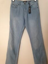 NWT BOYS/GIRLS LUCKY BRAND BILLY STRAIGHT LIGHT WASH JEANS SZ 20 L30