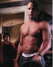 GAY INT SHIRTLESS DWAYNE THE ROCK JOHNSON PHOTO SIGNED