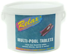 SWIMMING POOL CHEMICALS RELAX MULTIFUNCTIONAL CHLORINE TABLETS 5KG