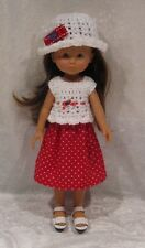 "LES CHERIES Corolle 13"" Doll Clothes #09 Top, Hat & Skirt Set   14"" Betsy McCall"