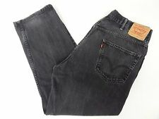 Levis Mens 550 Relaxed Fit Black Jeans 42x32 42/32 FREE SHIPPING 572
