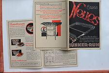 18772 Reklame Prospekt JUNKER RUH Gasherd mit DRP Schwankbrenner um 1935
