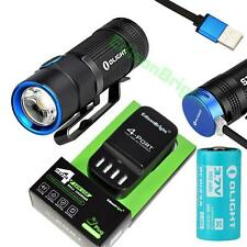 Olight S1R Baton 900 Lumens LED USB rechargeable flashlight with 4 port charger