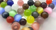 50 pieces 8mm Cat's Eye Beads - Assorted Mixed - A3740