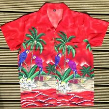 NEW MEDIUM M HAWAIIAN SHIRT HOLIDAY BRIGHT SUMMER BEACH LOUD PARTY STAG NIGHT