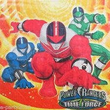 POWER RANGERS Time Force LUNCH NAPKINS (16) ~ Birthday Party Supplies Dinner