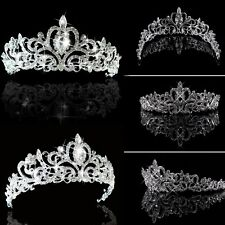 Wedding Bridal Princess Austrian Crystal Hair Accessory Tiara Crown Veil Decor