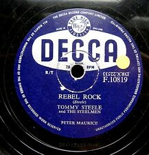 0296/ TOMMY STEELE-Rebel Rock-Singing the blues-Rock and Roll-Ära-Schellack