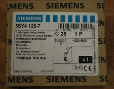 Siemens 5SY4 125-7, MCB, Miniature Circuit Breaker, C25, 1P - NEW