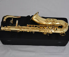 5% OFF Professional Gold Bb Tenor Saxophone sax Double bar Low B and C High F#