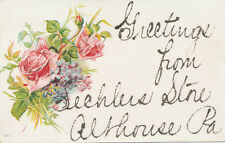 Althouse PA * Sechler's Store Greetings ca. 1908 * Somerset Co.
