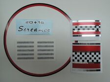 Sears Screamer bike frame decal set '68