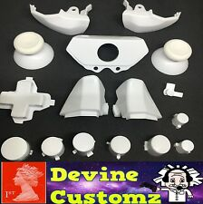 Xbox one controller ABXY custom white buttons full kit set