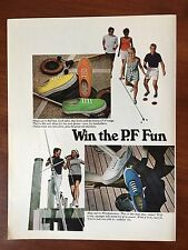 Vintage 1968 Original Print Ad Windjammers Sea Vees Deck Shoes ~P.F. Fun~