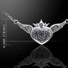 Celtic Heart of the Magdalene .925 Sterling Silver Necklace by Peter Stone