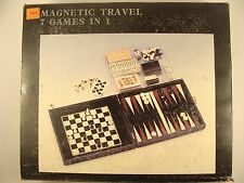 Magnetic Travel Game Set-7 in 1 W/ Case, New and Unopened Chess, Cards, Checkers