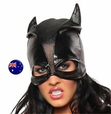 Men Women Batman Bat Man Cat Synthtic leather Party Costume Black Eye Face Mask