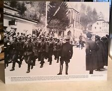 "WW2 German Soldiers Marching Vintage 11x14"" Photograph Memorabilia Nazi Hitler"