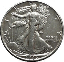 1946 WALKING LIBERTY Half Dollar Bald Eagle United States Silver Coin i44668