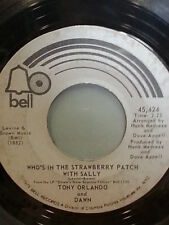 "TONI ORLANDO AND DAWN 45 RPM ""Who's in the Strawberry Patch"" ""Ukulele Man"" VG+"
