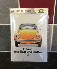 VOLKSWAGEN VW Beetle Metal POSTCARD Vintage Retro Tin Signs Yellow Beetle