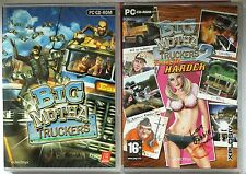 BIG MUTHA TRUCKERS 1 + 2 TRUCK ME HARDER PC RACING GAMES TWIN SET new & sealed