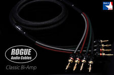 6ft. Pair ROGUE Audio Cables CLASSIC Bi-Amp Speaker Cables 4x4 Handmade USA