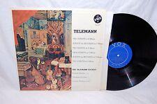 """TELEMANN Virtuoso Music For Recorder, Oboe & Harpsichord 12"""" Vinyl LP Vox ~j"""