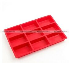 9-Cavity Plain Rectangle Bread Brownie Mold Silicone Making Baking Mould