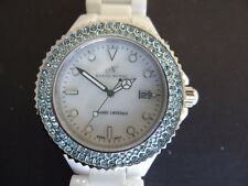 KLAUS KOBEC CERAMIC CRYSTAL CC12 QUARTZ WATCH WITH CRYSTAL SET ON BEZEL