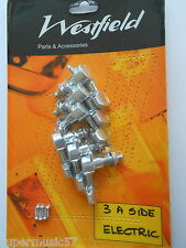 SET WESTFIELD 3 A SIDE CHROME ELECTRIC GUITAR MACHINE HEADS TUNERS FIT LES PAUL