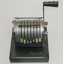 VINTAGE PAYMASTER SERIES X-500 CHECK WRITER STAMPING MACHINE WITH KEY