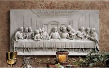 DaVinci The Last Supper Jesus & Disciples Bas Relief Wall Frieze 23""