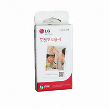 LG Pocket Photo Zink ink Paper 30 SHEETS for PD239 PD251 Printing on the Go