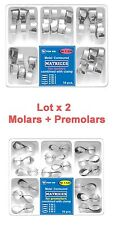 Lot X 2 Dental Contoured Matrices Combined with Clamp for Molars and Premolars