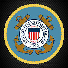 US Coast Guard Service Seal Military Veteran Graphics Decal Sticker Car Window