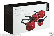 5 Piece Non Stick Pan Set Ecocook Milk Frying Pan Saucepan Lids Bakelite Handle