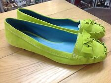 BODEN LIME GREEN REAL SUEDE MOCCASIN SHOES SIZE 7