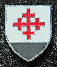 Christian Crusader Templar Mystery Knight Shield Cross  Hat Lapel Pin NEW